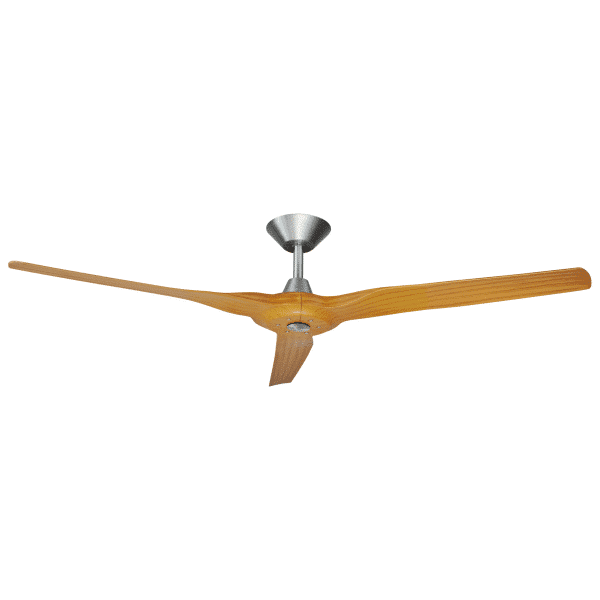 Hunter Pacific Radical 2 DC Ceiling Fan Brushed Aluminium with Bamboo Finish Blades -