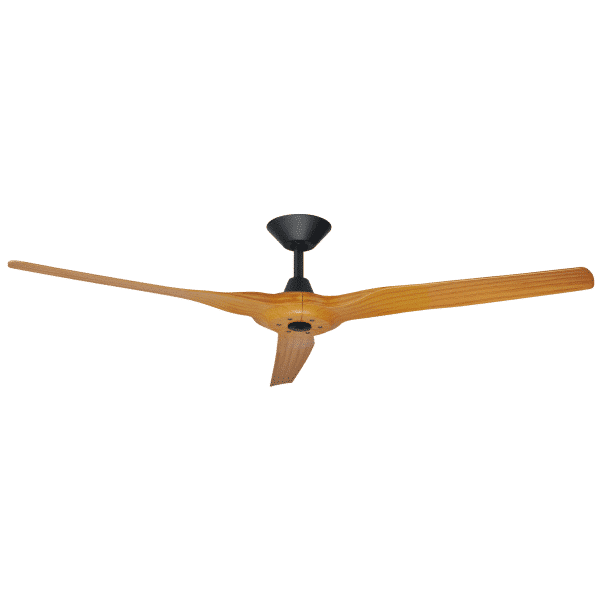 Hunter Pacific Radical 2 DC Ceiling Fan Matt Black with Bamboo Finish Blades -