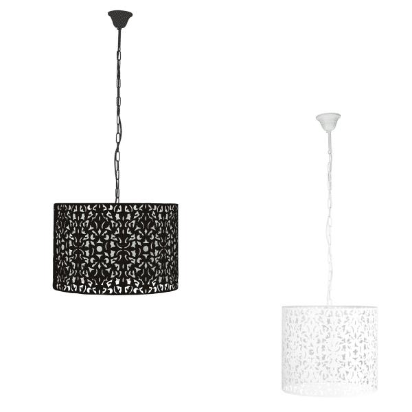 Vicky Laser Cut Metal 1 Light Pendant -