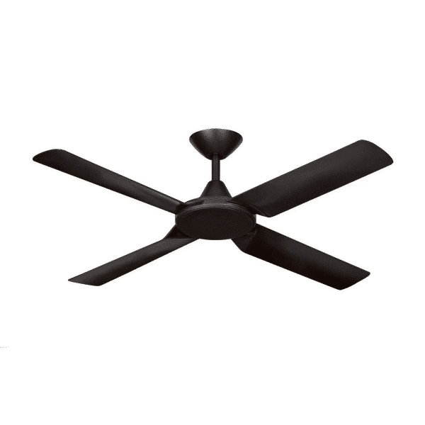 Hunter Pacific New Image Matt Black DC Ceiling Fan with Remote and Wall Control -