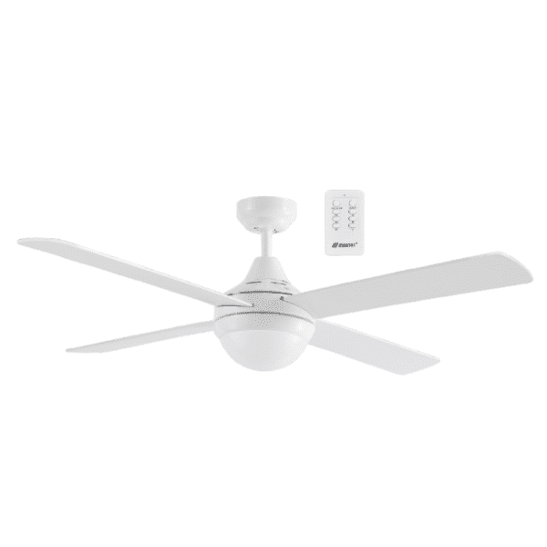 Martec Four Seasons Link White Ceiling Fan with E27 Light and Remote -