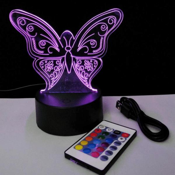 Butterfly 3D Night Light -