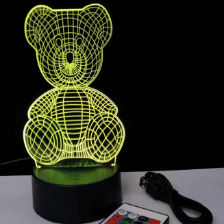 Teddy 3D Night Light