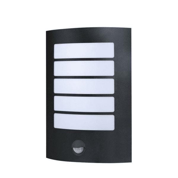 Stark Outdoor LED Wall Light with Sensor BLK