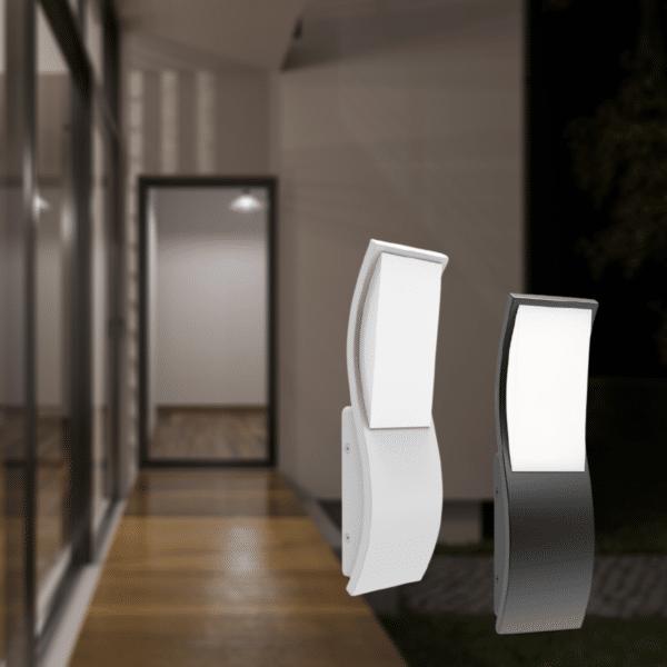 OLA Exterior LED Wavy Wall Light - OLA Exterior LED Wavy Wall Light