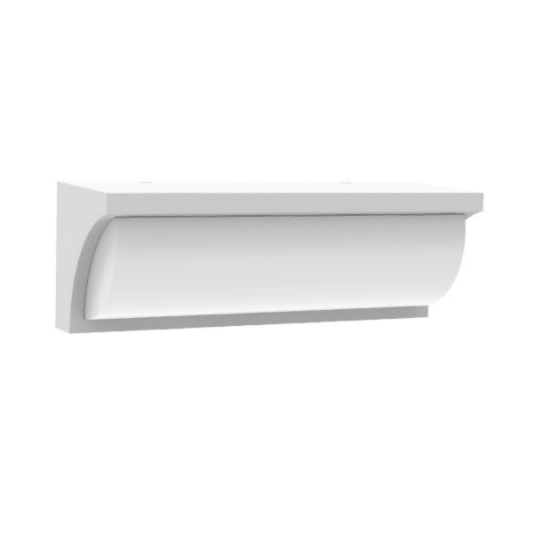 Repisa LED Exterior Wedge Wall Light White