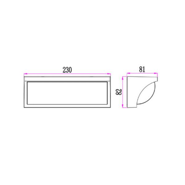 Repisa LED Wedge Exterior Wall Light