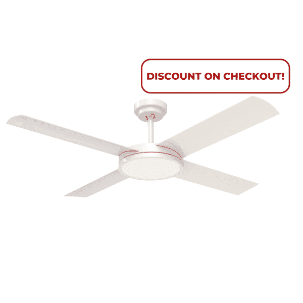 """Hunter Pacific Revolution 3 52"""" White Ceiling Fan with 24W LED Light -"""