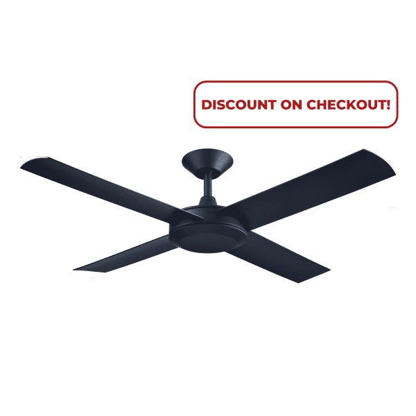 Hunter Pacific Concept 3 Matt Black Ceiling Fan without Light -