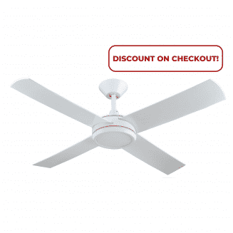 Hunter Pacific Concept 3 White Ceiling Fan with 24w LED Light