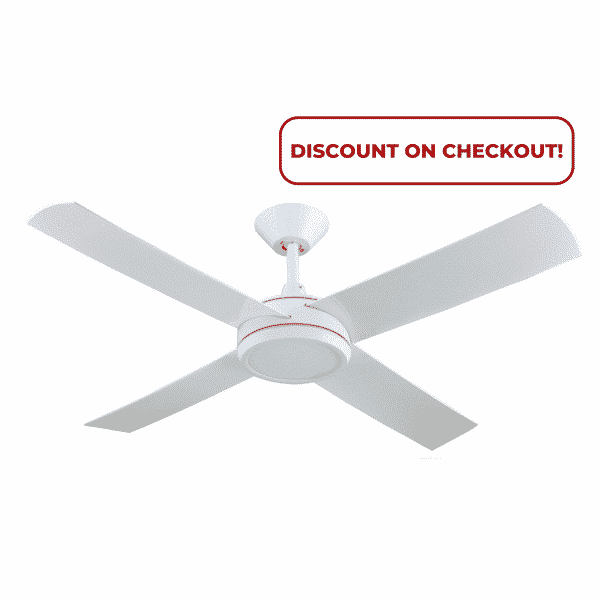 Hunter Pacific Concept 3 White Ceiling Fan with 24w LED Light -