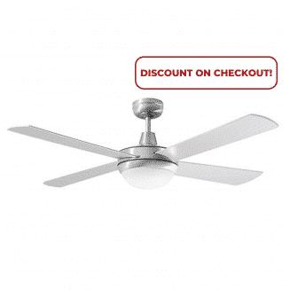 "Martec Lifestyle ""AC"" Brushed Aluminium Ceiling Fan with 24W LED Tri-Colour Light"