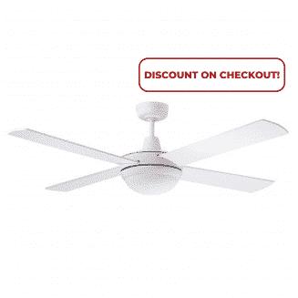 "Martec Lifestyle ""AC"" White Ceiling Fan with 24W LED Tri-Colour Light"