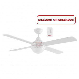 Martec Four Seasons Link White Ceiling Fan with E27 Light and Remote