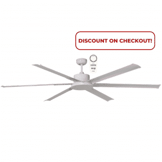 Albatross DC Ceiling Fan in White with Remote Control