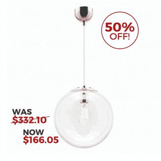 Toledo 40cm Glass Pendant Light