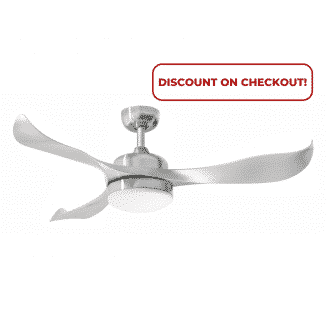 Martec Scorpion DC Range Ceiling Fan Brushed Nickel with 20w Tri Colour LED Light