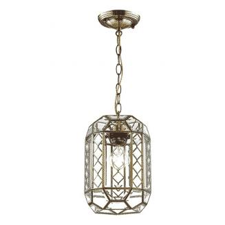 1 Light Antique Brass Pendant