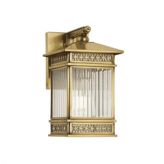 Avera Brass Exterior Wall Light