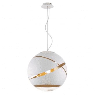 Matrix White and Gold Pendant Light