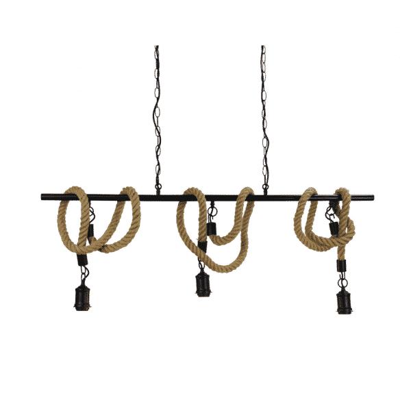 Triple Rope Pendant Light