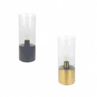 Glass Cylinder Touch Lamp